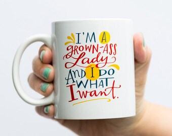 Grown Ass Lady Mug by Emily McDowell