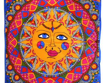 Here Comes the Sun mandala tapestry wall hanging // back to school college dorm room