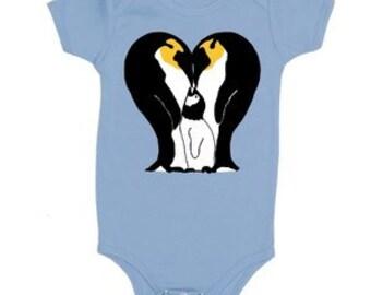 Penguin Family Baby Onesie