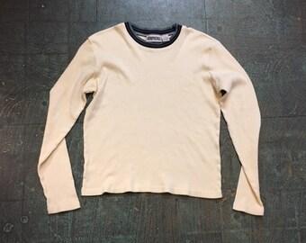 Vintage 90s Aeropostale ribbed knit pullover sweater // Size medium M // Retro prep street style grunge normcore
