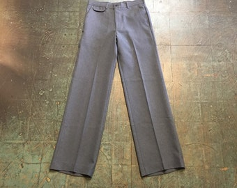 Vintage 70s 80s LEVIS Action Slacks for Young Men polyester trousers // high waisted straight leg pants jeans