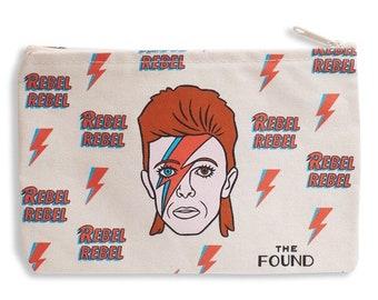 Rebel Rebel David Bowie Aladdin Sane pouch