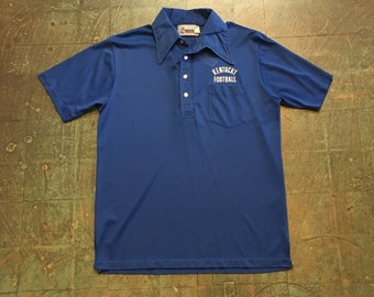 Mens vintage Kentucky Football blue mesh polo // Kingfish Collection Southern Athletic