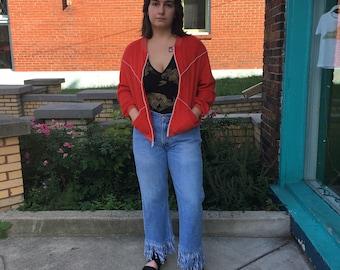 "Vintage 70s 80s ""Jantzen"" retro unisex terry cloth zip up sweatshirt track tennis jacket // retro lightweight sporty athletic hip hop street"