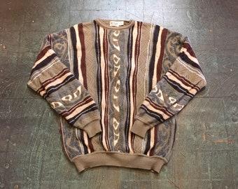Vintage COOGI style wool blend sweater // unisex xl // retro hip hop street wear biggie smalls notorious BIG // made in USA