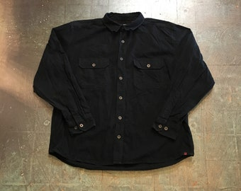 Men's vintage 90s Woolrich chamois long sleeve button up shirt // size XL // fall // hippie  western boho grunge normcore