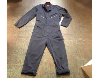 Vintage Dickies coveralls mechanic leisure romper jumpsuit // size 42 medium M // playsuit flight suit onesie one piece workwear menswear