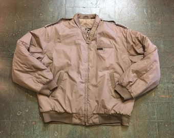 Vintage Members Only unisex puffer bomber jacket // size Large Tall // retro sporty athletic hip hop street style