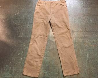 Mens Vintage Wrangler denim trousers // 32 x 32 // high waisted straight leg // made in USA