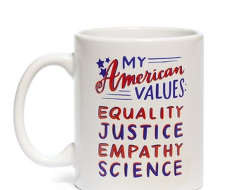 American Values Mug by Emily McDowell // gift idea under 20