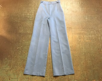 vintage 70s Willow Run ultra high waist waisted wide leg slacks trousers pants // retro boho hippie festival