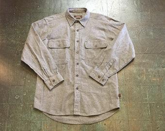 Men's vintage 90s Moose Creek chamois long sleeve button up shirt // fall // hippie  western boho grunge normcore