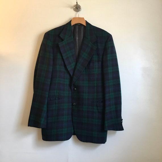 Vintage AYRES Men's Store Plaid Wool Blazer Suit J