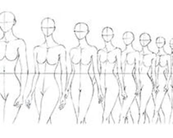 FASHION FIGURE TEMPLATE Runway Finale Walk Line Up
