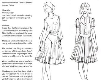 "Practice Pack for ""Fashion Illustration Tutorial: Sheer Fabrics"" Video"