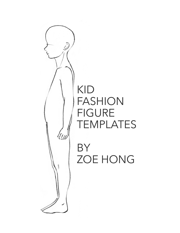 Kid FASHION FIGURE TEMPLATES