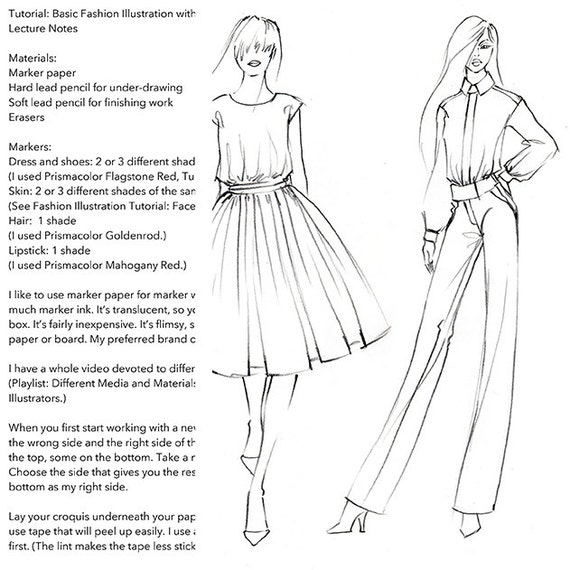 Basic fashion drawing for beginners 84