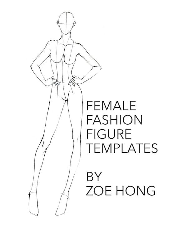 female fashion figure templates etsy