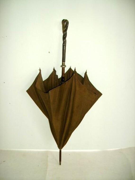 Early 1900 Antique Victorian Parasol Umbrella/ Ant