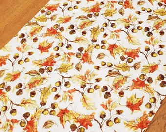 Fall Table Runner - Reversible Autumn Runner - 60 Inches Long - Harvest Runner - Thanksgiving Runner - Thanksgiving Table Decor