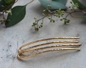 Brass Hair Pins, Set of 2 mini Hair Forks, Metal hair accessories, Bun Holder Pin, Pair Gold Metal Hair Pins, Mom Gift, Horseshoe Pins