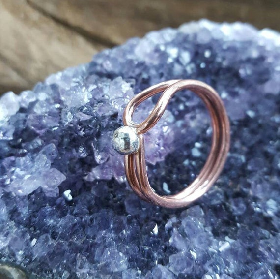 Copper Ring Women Gift For Girlfriend Mom Birthday Gifts