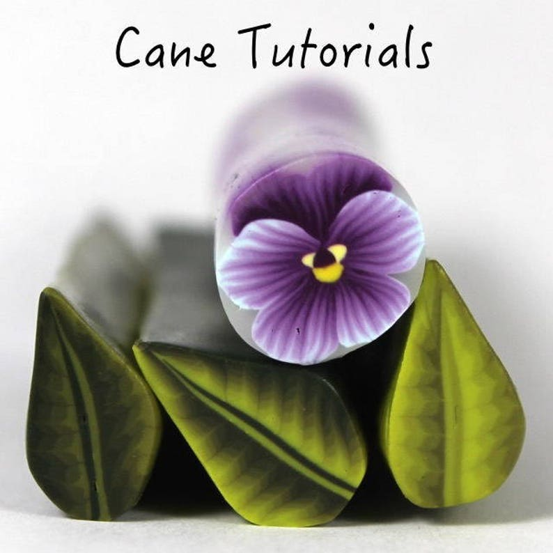 Polymer Clay Pansy Hibiscus and Water Drop Cane Tutorial image 0