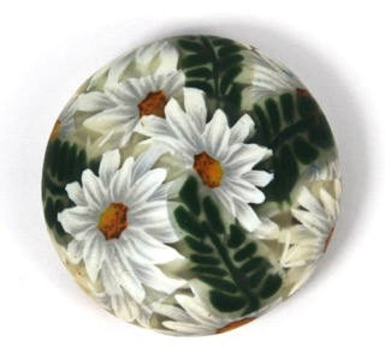 Polymer Clay Daisy Fern Bubble and Sunflower Cane Tutorial image 0