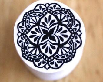 Polymer Clay Mandala Cane Tutorial