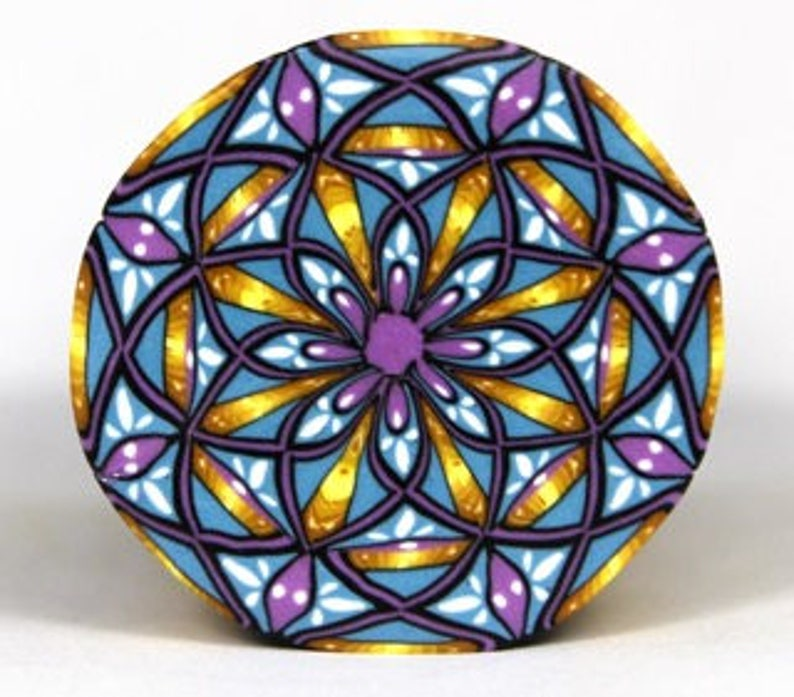 Polymer Clay X Mandala Cane Tutorial image 0