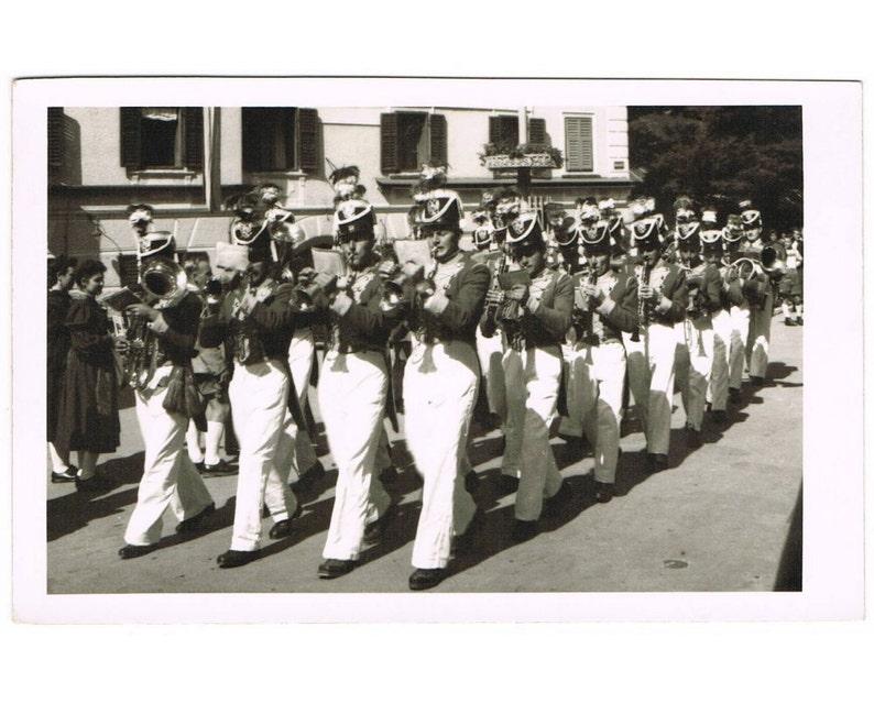 Vintage German Postcard - Uniform - Music - Brass Band - Europe