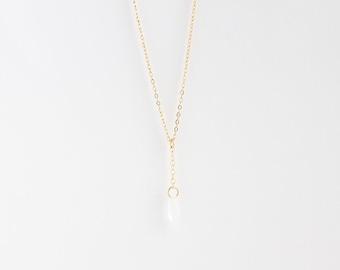 Petals Drop Necklace - 14k Gold Filled or Sterling Silver