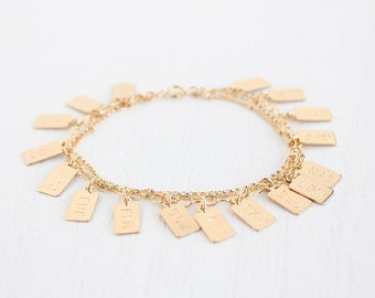 Multi Chain Charm Bracelet - 14k Gold Filled - James Charm Bracelet