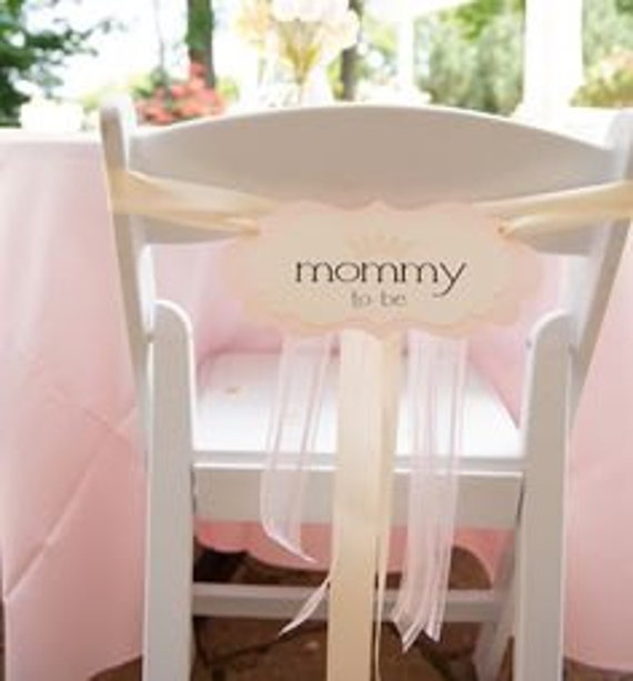 French Baby Shower Mommy To Be Chair Sign With Crown For Your Etsy