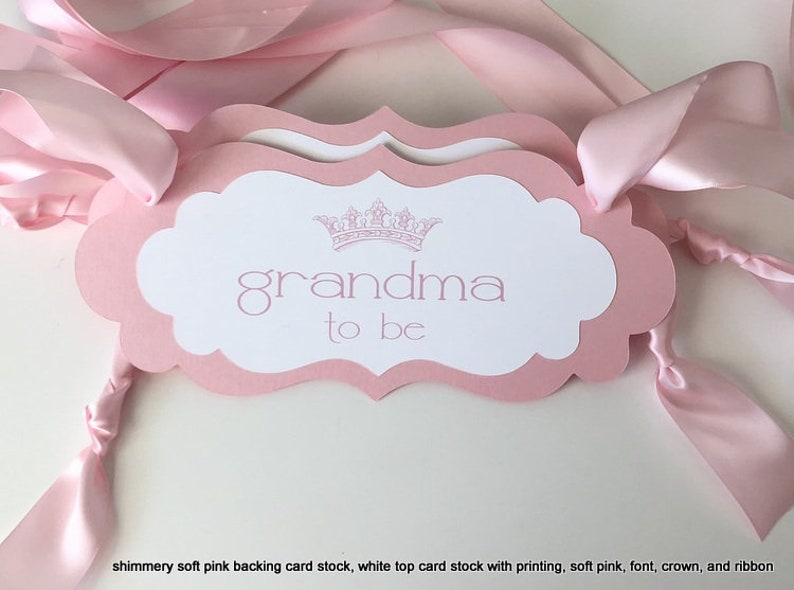 Grandma To Be Chair Sign With Crown French Theme Baby Shower Etsy