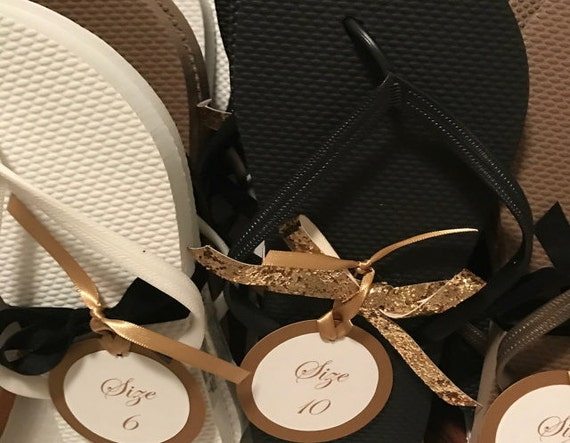 Flip Flop Favor Tags For Your Party Shower And Wedding Etsy