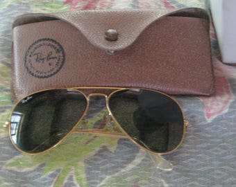 8683f08c188 Great Vintage B   L Ray Ban Gold Filled Aviator Sunglasses With case