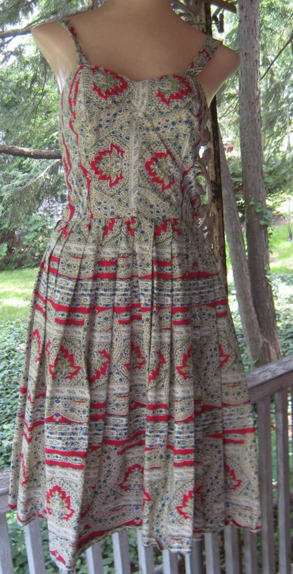 Summer Fun Great 1950s Sun Dress