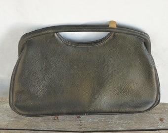 Vintage 60s Black Handbag Clutch Purse By JR Florida U.S.A Retro Mid Century 98c80eca097fe
