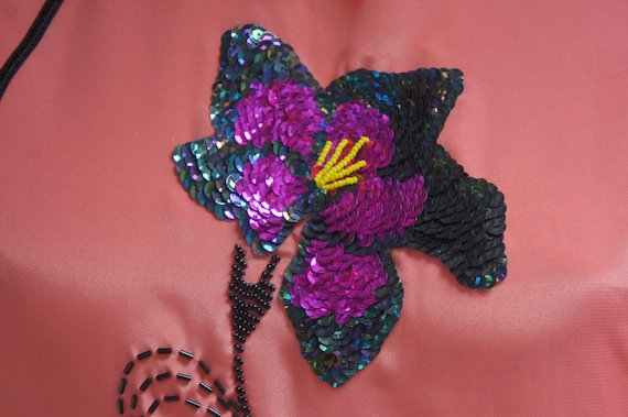Vintage Embroidered Bead & Sequin Asian Cheongsam… - image 8
