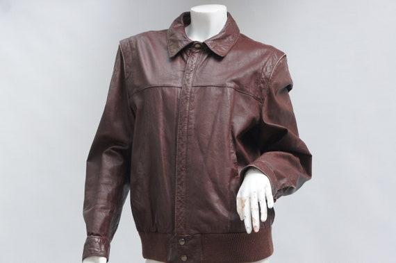 Vintage 70s-80s Men's Brown Leather Jacket/Bomber