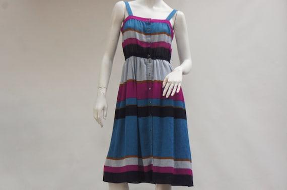 Vintage 90s Colorblock Dress & Jacket Set By Doria