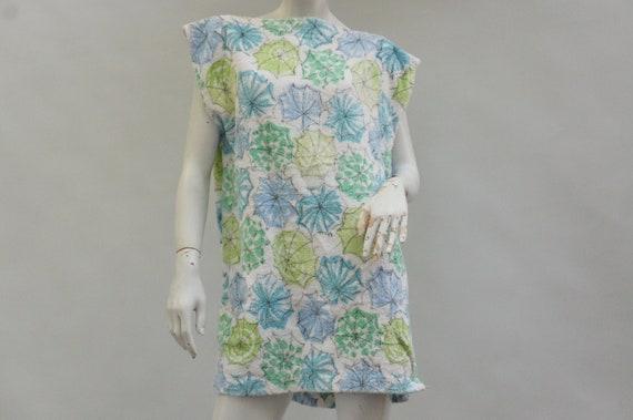 Vintage 70s Homemade Bath Towel Dress/House Dress/