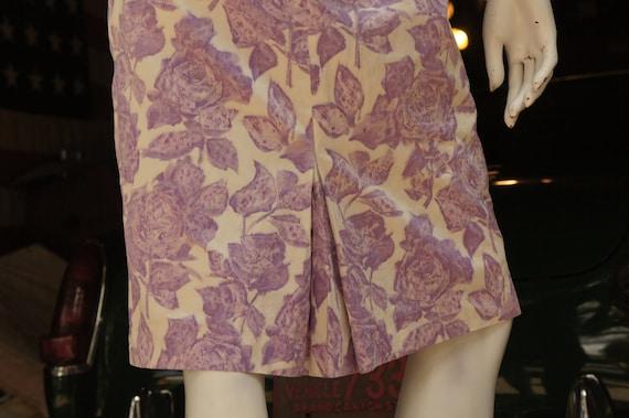 Vintage 50s Purple Floral Rose Print Dress /Retro… - image 6