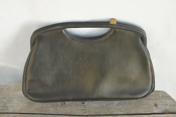 Vintage 60s Black Handbag/Clutch Purse/By JR Flori