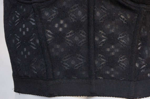 Vintage Black Lace Bustier/Strapless Bra/Lingerie… - image 9