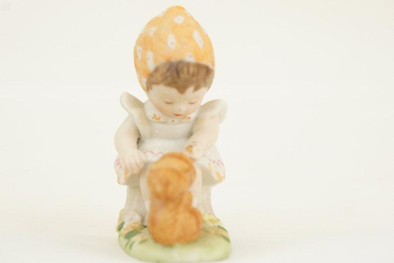 Vintage 80s Bisque Figurine Gretchen Memories Shared Miniature Collection
