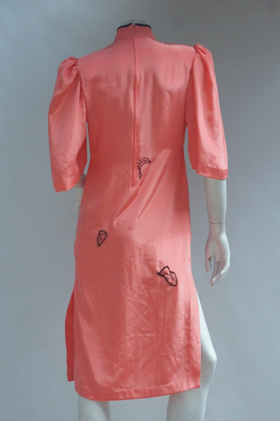 Vintage Embroidered Bead & Sequin Asian Cheongsam… - image 7