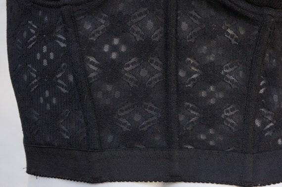 Vintage Black Lace Bustier/Strapless Bra/Lingerie… - image 2