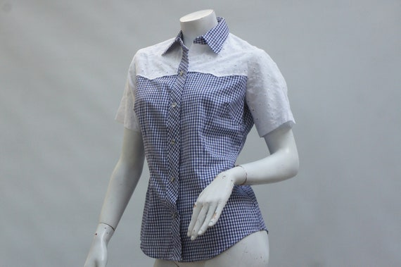 Vintage 50s-60s Women's Lace and Gingham Western S